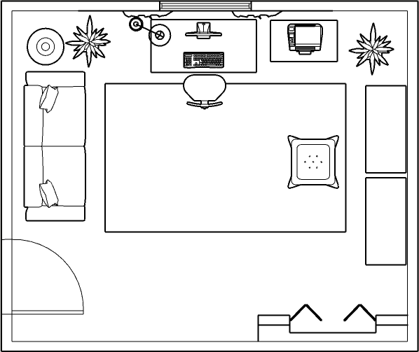 floor-plan-and-layour furniture
